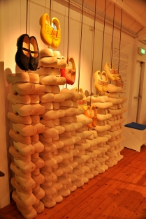 Wooden shoe wall